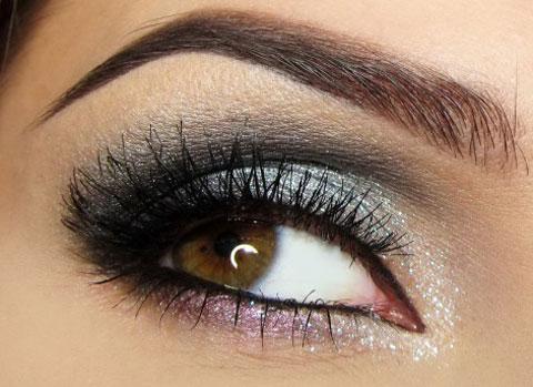تن های متالیک برای آرایش چشم های قهوه ای , آرایش چشم های قهوه ای با تن های متالیک , آرایش چشم قهوه ای , آرایش چشم های قهوه ای