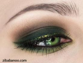 مدل زیبای آرایش چشم با آموزش تصویری