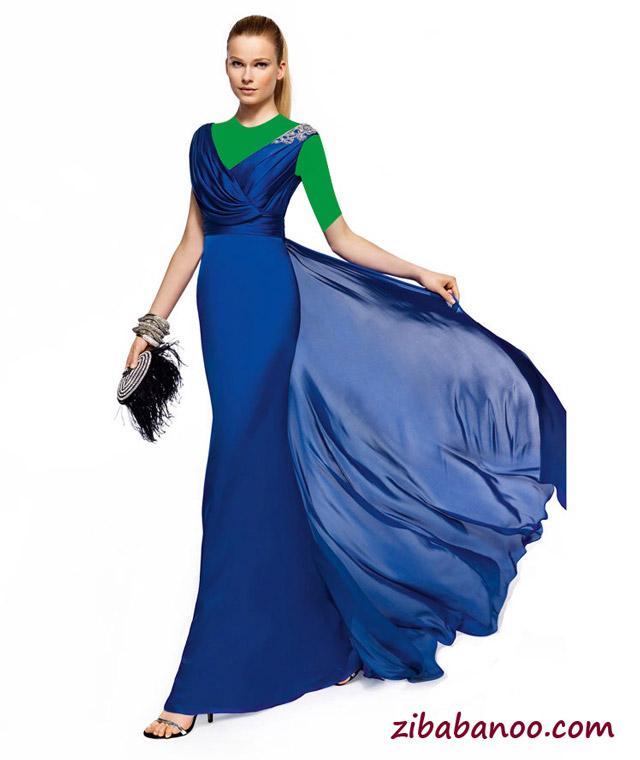 جدیدترین مدل لباس مجلسی آبی رنگ , زیباترین مدل لباس مجلسی آبی رنگ , لباس مجلسی آبی رنگ