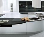 مدل دکوراسیون آشپزخانه شیک و مورب